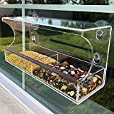 Go Simply Amazing Window Bird Feeder - Strong Suction Cups - Clear Weatherproof
