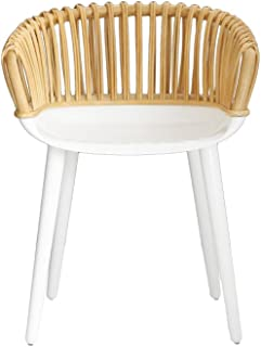 Magis Design Cyborg club Glossy White/Natural Rattan