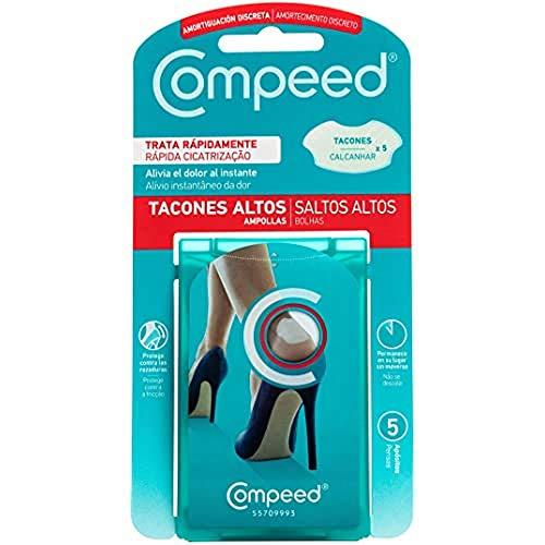 Compeed Ampollas Zapatos Nuevos, 5 Apósitos Hidrocoloides - Tratamiento De Pies, Cura Rápidamente, Tamaño Del Apósito: 4.2 X 6.8 Centímetros