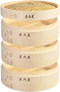 Hcooker 3 Capas de Cocina Cesta de Vapor de Bambú para