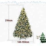 Yorbay künstlicher Weihnachtsbaum mit Beleuchtung weiß Schnee LED Tannenbaum für Weihnachten-Dekoration (210CM) - 5