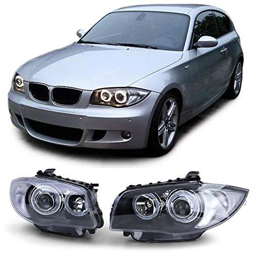 Carparts-Online 15691 Projektor H7 H7 Scheinwerfer schwarz mit Angel Eyes Ringen