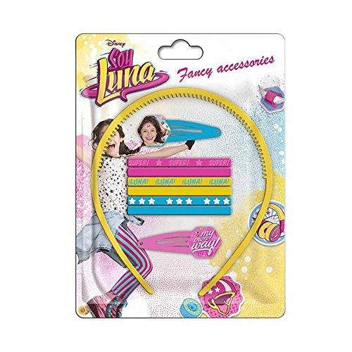 Compatible avec Set 9 pièces Soy Luna Serre tête barrette élastique à cheveux Disney
