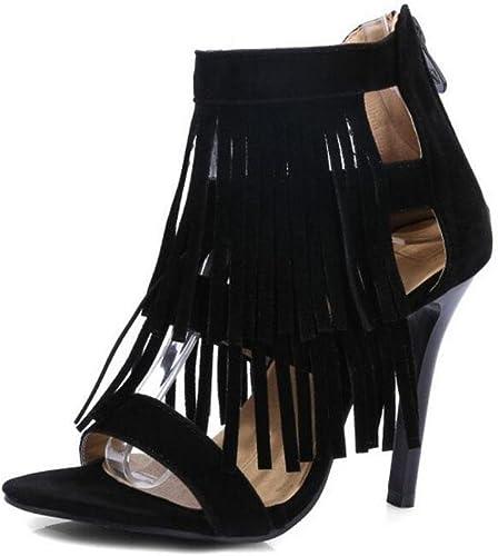 GLTER Aux femmes Ankle Strap Pompes Gland Haut Haut des sandales Peep-orteil Chaussures Court