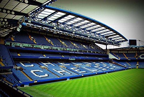 Eine 45,7x 30,5cm Fotografieren Fotodruck Chelsea FC Stamford Bridge West Ständer London England United Kingdom Landschaft Foto Farbe Bild Fine Art Print. Fotografie von Andy Evans Fotos