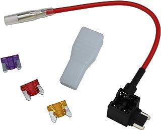 小さくてコンパクト ロープロファイルヒューズ用電源コンセントケーブル3A5A10Aヒューズ3種類セット