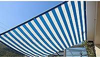 Insun 日除け シェード 遮光率90% HDPE素材 シェードセイル スクエア 日よけ シェード アウトドア 青と白 2m x 3m