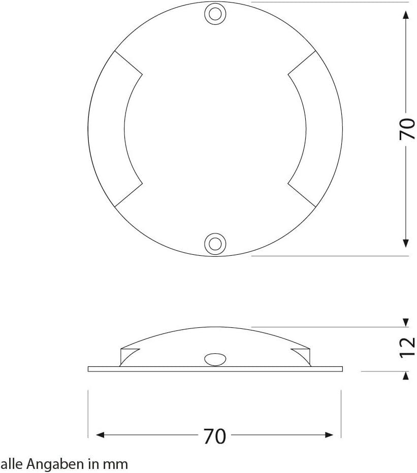 parlat LED Boden-Aufbau-Leuchte Bunda 2-Beam für außen, befahrbar, warm-weiß, 7er Set 8er-set / Lichtfarbe: Warmweiß