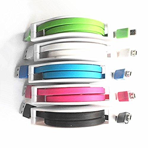 Hipipooo 5 unids 3M 9FT Multicolor retráctil Micro USB Cable de carga Sincronización Cable de datos para teléfonos móviles Android
