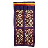 Interact China 100% Artesanía Algodón Tibetano Paño Panel de Puerta Cortina 90 x 180 cm Adorno de Pared #124