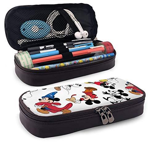 Mickey Mouse Federmäppchen aus Leder, große Kapazität, Federmäppchen, geeignet für Schule, Studenten, Jungen, Mädchen und Büro