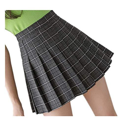 Las mujeres corto plisado falda a cuadros coreana Slim Fit cintura alta preppy estilo faldas niñas mini sexy lindo ropa