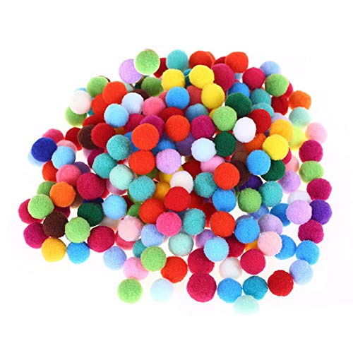 tanbea-UK pcs Colorful Pompom Pom Pom Balls Fluffy Plush Balls for Craft Making Multi Coloured Fluffy Balls Various Sizes Children Arts Crafts landmark