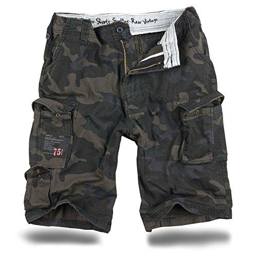 Trooper Herren Cargo Shorts, Black-camo L