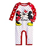 Disney Mickey and Minnie Mouse Coverall for Baby Size 12-18 MO Red