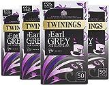 Twinings Earl Grey 50 Bags (Pack of 4, Total 200 Teabags)
