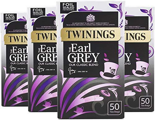 Twinings Earl Grey Tea 200 Bags (Multipack of 4 x 50 Tea Bags)