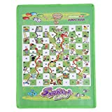 Timetries Snacks and Ladders Set Board Game Component for All Ages Interesting Gift for Kids and Adult, Green