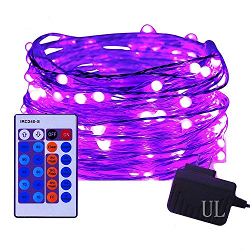 100 LED String Lights,Easest 33 feet Long Copper Wire Starry Lights Dimmable Fairy Lights with Remote Control for Bedroom,Halloween Christmas Easter Holiday Decoration