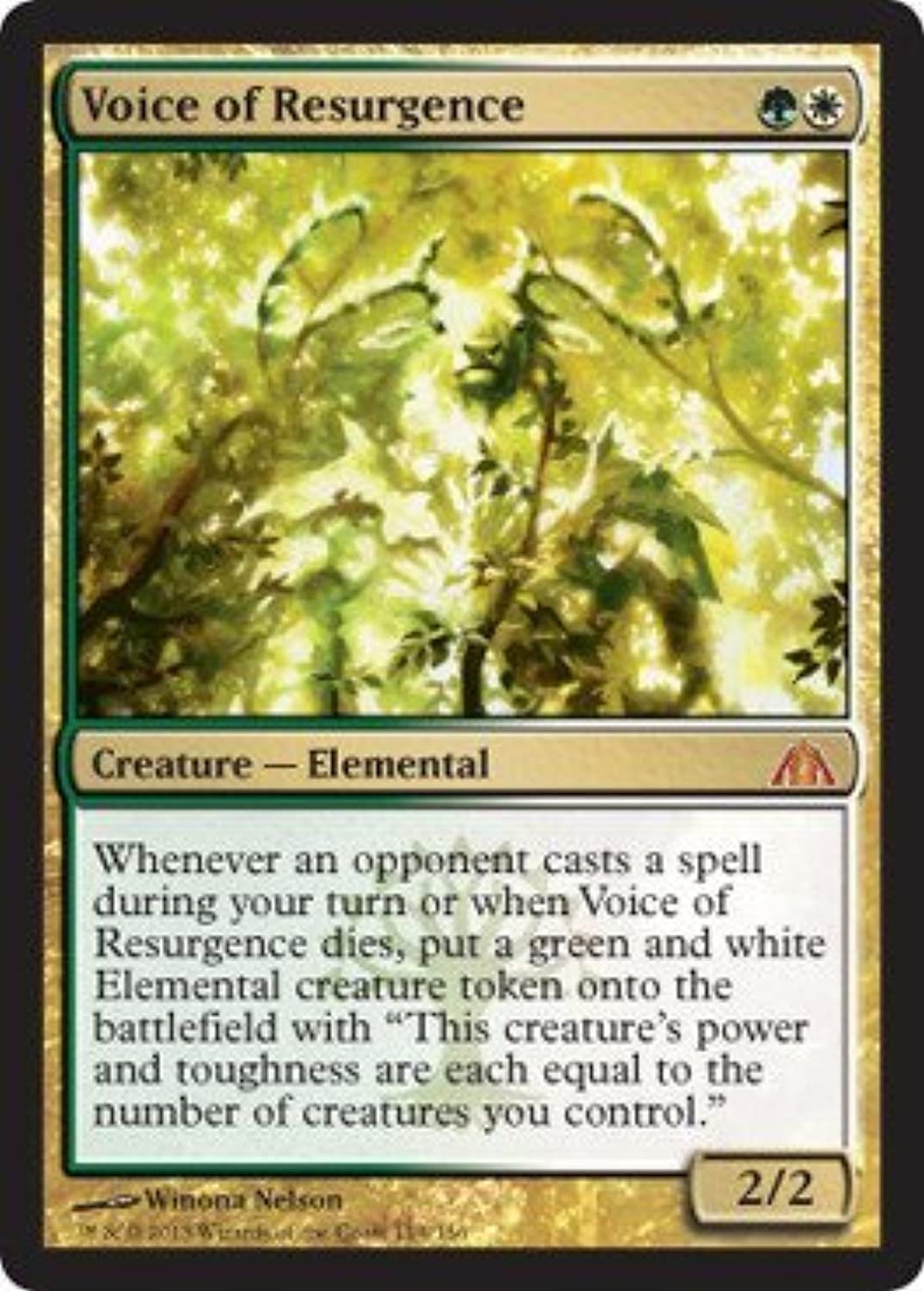 Magic  the Gathering  Voice of Resurgence  Dragon's Maze  Foil by Magic  the Gathering