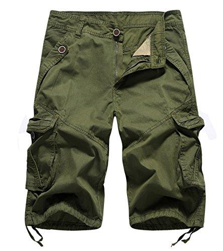 AYG Hombre Bermudas Cargo Pantalón Cortos de Verano Militares Camuflaje Pantalones Cortos de Trabajo