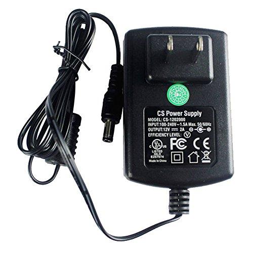 Netzteil-Adapter AC 100–240 V auf DC 12 V 2 A, 5,52,1 mm, für CCTV-Kamera, DVR, NVR, LED-Lichtstreifen, UL-gelistet, FCC