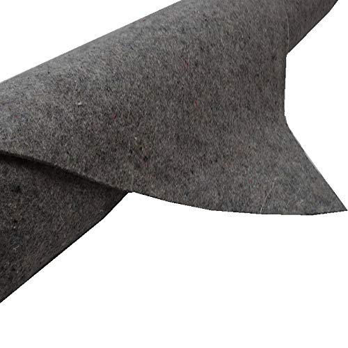 TeichVision - Teichvlies Teichschutzvlies Schutzvlies Poolvlies für Teich Vlies 500 g/m² 8 m x 2 m, grau