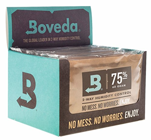 Boveda 75-Percent RH Retail Cube Humidifier/Dehumidifier, 60gm, 12-Pack