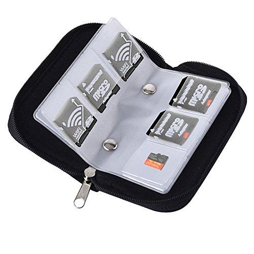 Hosaire 1x Aufbewahrungs Tasche Kreative Micro SD-Karte Storage Bag SD-Adapter Tasche Multifunktionale Digital Card Aufbewahrungsbeutel mit 22x Schutzhülle