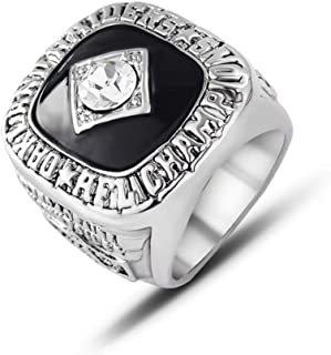 Gloral HIF Oakland Raiders Championship Ring AFC 1967 Replica Ring sz 11 with Display Wooden Box