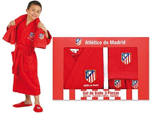 Atlético de Madrid Set de Regalo Oficial - Albornoz +