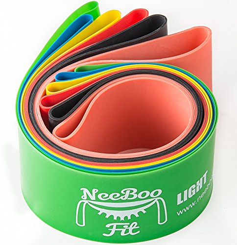 NeeBooFit Resistance Loop Band Set 12x2 Inches Best Fitness Exercise Bands for Working Out or Physical Therapy