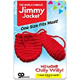 Jimmy Jacket for Men - Funny Knit Willy Warmer - Peter Heater for Dad - Christmas Gag Gift Red