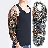 Handaxian 3pcs-Impermeable Etiqueta engomada del Tatuaje Temporal Angel Wing Tiger Flower Tattoo Tattoo Set Hombres y Mujeres 3pcs-21