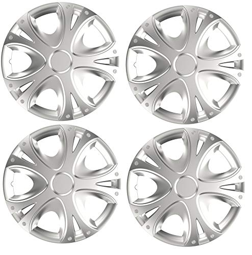 """UKB4C 15"""" 4 x Alloy Look Silver DYNAMO Multi-Spoke for sale  Delivered anywhere in UK"""
