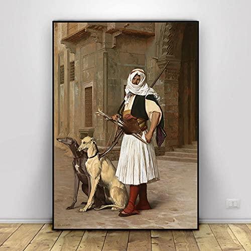 Serie de Pinturas en Lienzo más Famosa del Mundo Pintor francés Jean Leon Gerome Carteles en HD Impresiones Imagen de Arte de Pared para Sala de Estar 40x50cm (15.74x19.68 in) H-1491