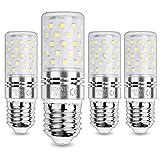 HZSANUE E27 Bombillas Maíz LED 12W, LED Bombillas Candelabros, 6000K Blanco Frío, 1200LM, Bombillas Incandescentes de 100W Equivalentes, No Regulable, Paquete de 4