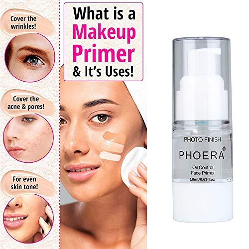 PHOERA Makeup Primer,Firstfly Long Lasting Isolated Hydrating Makeup Base Face Primer CosmeticBeauty Foundation Primers (18ML)
