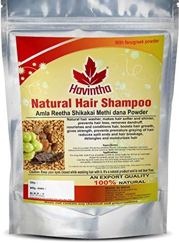 Havintha champú cabello natural con amla, reetha, shikakai y dana methi (champú avanzado)