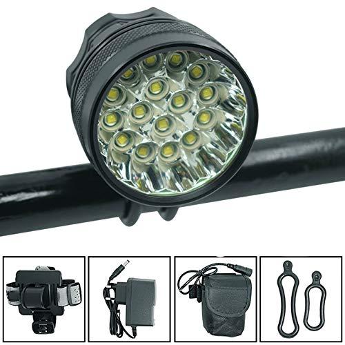 zgpqaw 16 Lichter Fahrrad Licht super Helligkeit Auto Scheinwerfer Outdoor Mountain Night Fahrrad Licht, wasserdicht Fahrrad Scheinwerfer
