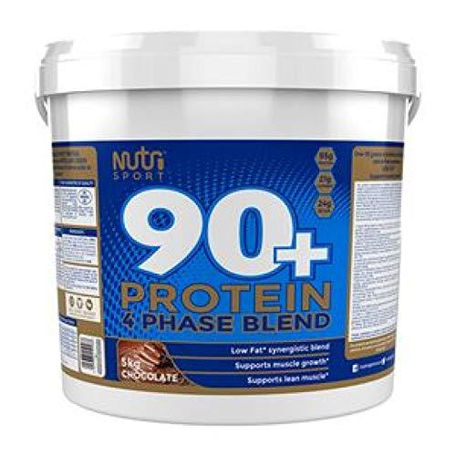 Nutrisport 90 Plus Protein Powder, 5 kg, Chocolate
