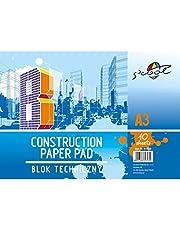 S'COOL Blok techniczny (A3, 160 g/m², 10 arkuszy), karton rysunkowy, biały