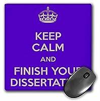 3drose Keep Calm and Finish Your Dissertationパープルマウスパッド(MP 193306_ 1)