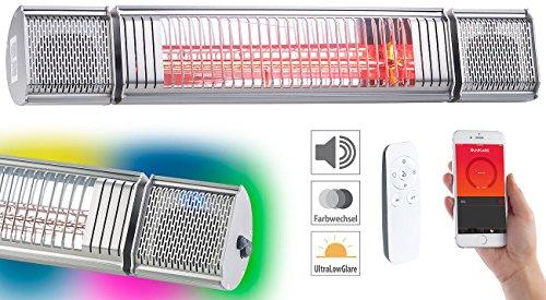 Semptec Urban Survival Technology Semptec Elektroheizung: Low-Glare-IR-Heizstrahler mit Bluetooth, Lautsprecher & App, 2.000 W (Decken-Infrarot-Heizstrahler) - 2