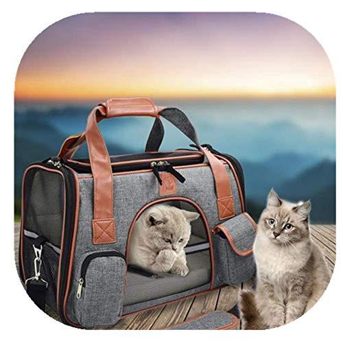 SOWLFE Transportador de viaje para mascotas aprobado por avión, suave y portátil, bolsa para mascotas transpirable y segura para gatos y perros