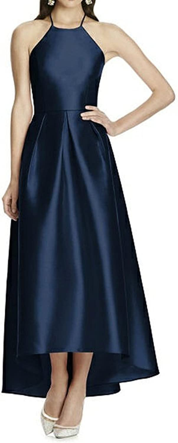 High Low Homecoming Dresses Halter ALine Backless Prom Evening Gowns for Women