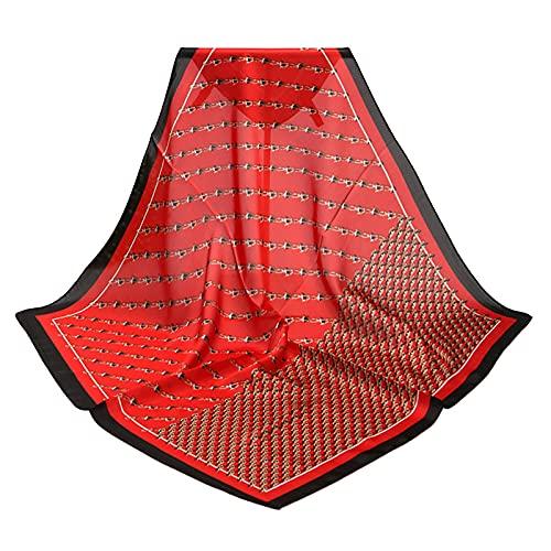 Yue668 - Foulard quadrato da donna, professionale, con collo bianco, accessorio per borsa, 70 x 70 cm, set regalo bandana per sciarpa, coperta protettiva per fascia
