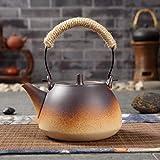 Teiera con filtro bollitore in ceramica tè piatto set di tè pietra ceramica elettrica stufa in ceramica elettrica (Color : A800ml)