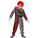 WIDMANN 52520 52520 - Disfraz de payaso asesino asesino, mono y cuello, fiesta temática, Halloween, hombre, multicolor, XXL