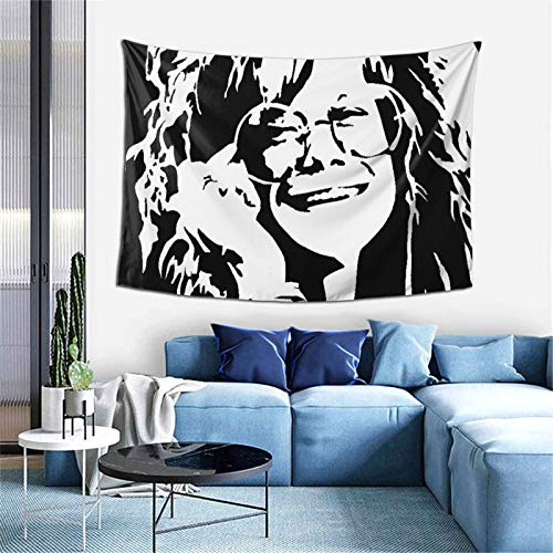 Tapestry Wall Hanging Janis Lyn Joplin tapestry for Bedroom aesthetic Home Wall Decorations Beach Blanket One Size